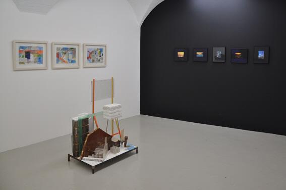 Wandrille Duruflé, Série Dérive, 2011 & Sans Titre, 2011; Olivier Millagou, Fade Postcard, 2007, courtesy Galerie Sultana
